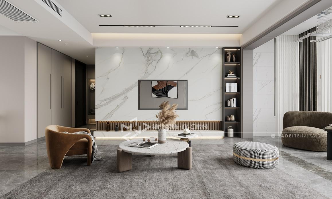 现代风格-碧桂园凤凰城-四室两厅-180㎡装修实景效果图装修-四室两厅-现代简约
