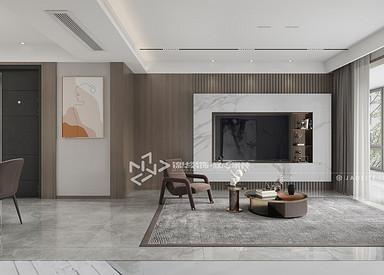 现代风格-森林红郡-三室两厅-120㎡装修实景效果图