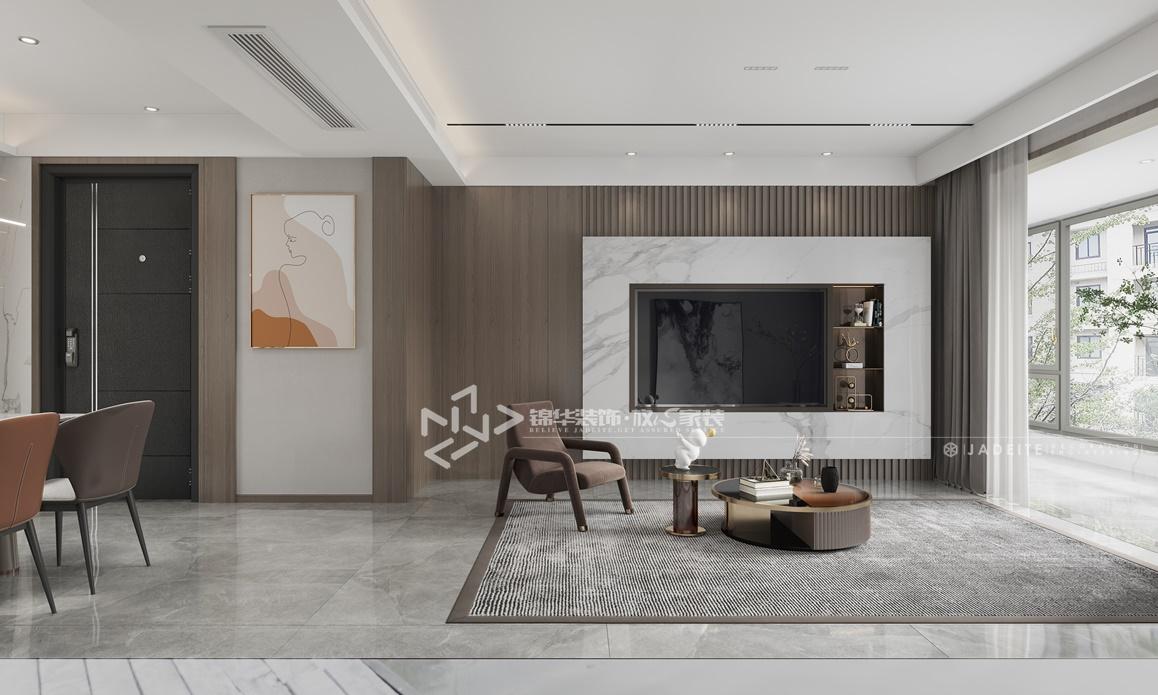 现代风格-森林红郡-三室两厅-120㎡装修实景效果图装修-三室两厅-现代简约