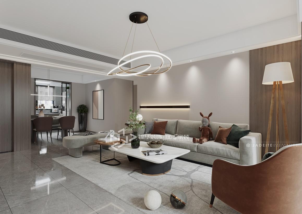现代风格-苏豪名邸-三室两厅-120㎡装修实景效果图