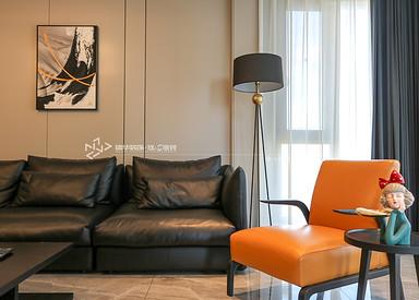 现代风格-中南八期-叠墅-198㎡装修实景效果图