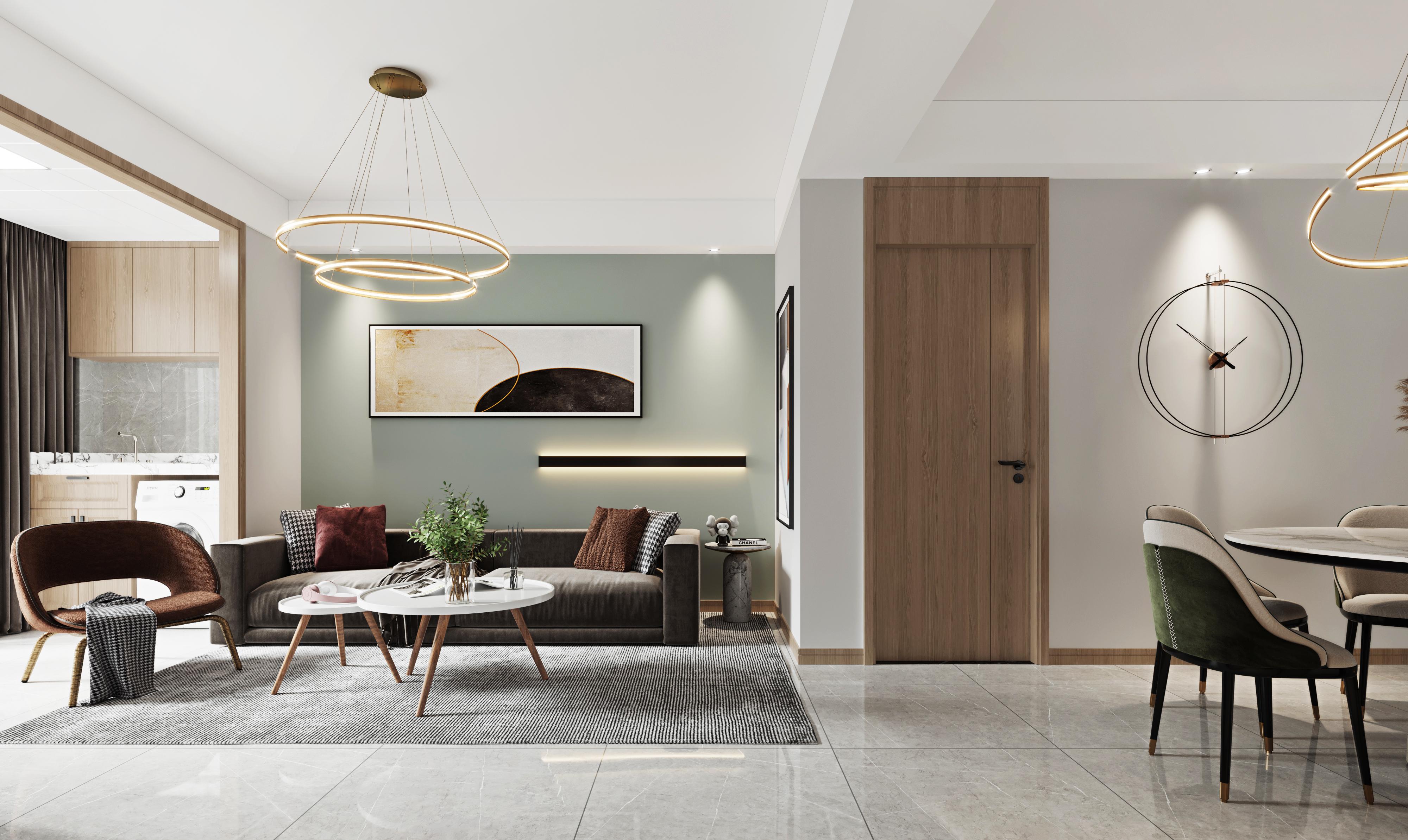 现代风格-申鑫名城-三室两厅-80㎡装修实景效果图