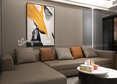 现代简约-海德公园-三室两厅-140㎡装修实景效果图