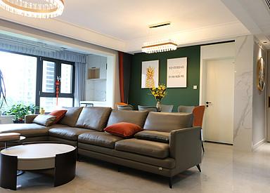 现代简约-中南十期-三室两厅-140㎡装修实景效果图