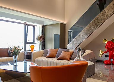 现代轻奢-中海万锦园-四室两厅-170㎡装修实景效果图