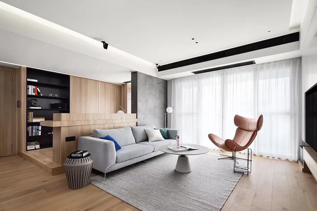 现代风格-珺悦府-三室两厅-130㎡装修实景图