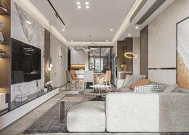 现代简约-中海万锦公馆-四室两厅-130㎡装修实景图