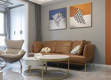 现代简约-荣悦华府-三室两厅-100㎡装修实景效果图