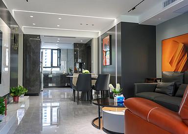现代简约-宝龙世家-三室两厅-130㎡装修实景效果图