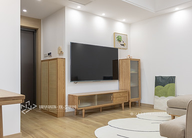 北欧-中江嘉城-两室一厅-79㎡-装修实景效果图