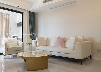 现代简约-华建颐园-三室两厅-98㎡装修实景效果图