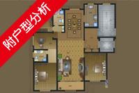揽月豪庭F户型143.43平米4室2厅2卫