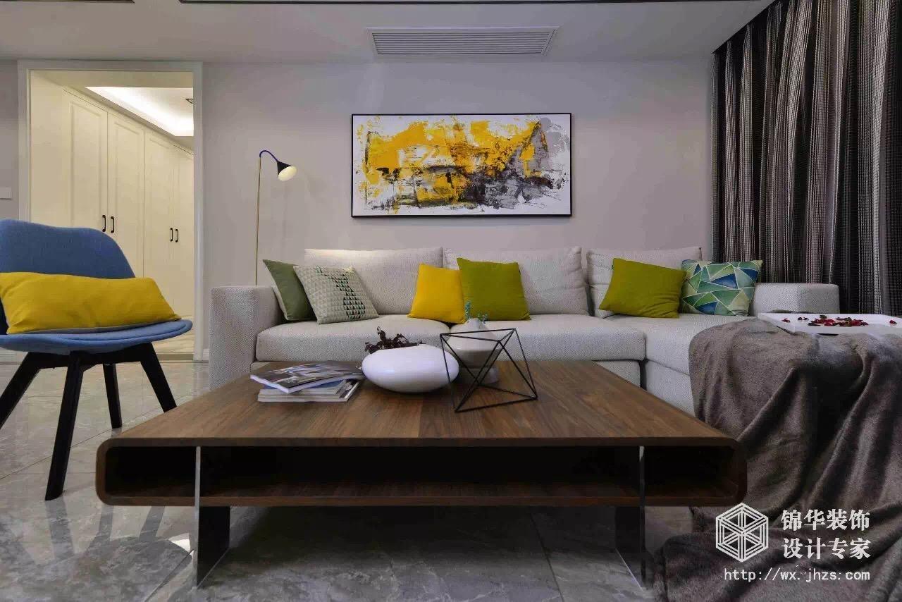 理想城市134平三室两厅两卫现代简约风格实景图