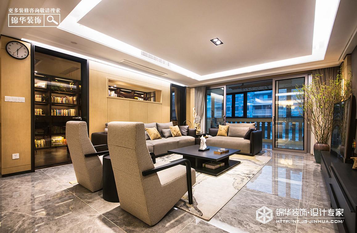 壹城252平新中式风格实景图