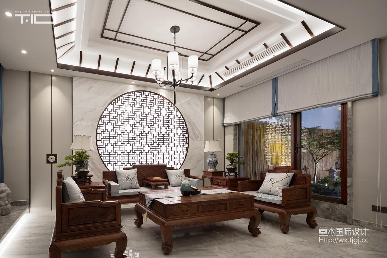 400平别墅中式风格实景图