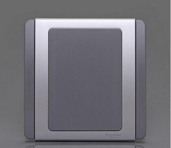 都会系列白板(灰+银)开关面板插座