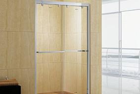 丽系列-缓冲不锈钢双移淋浴房
