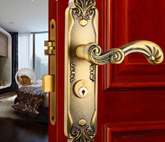 棕古-欧式门锁