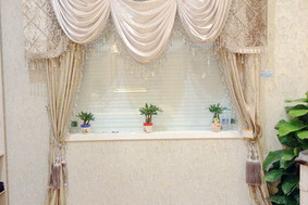 浪漫浅纯色窗帘