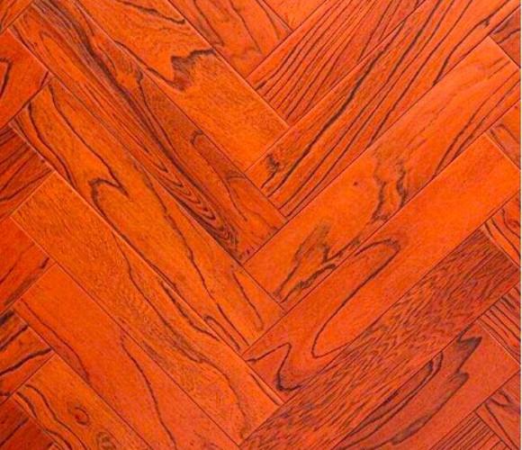 地暖地板-榆木人字拼-1