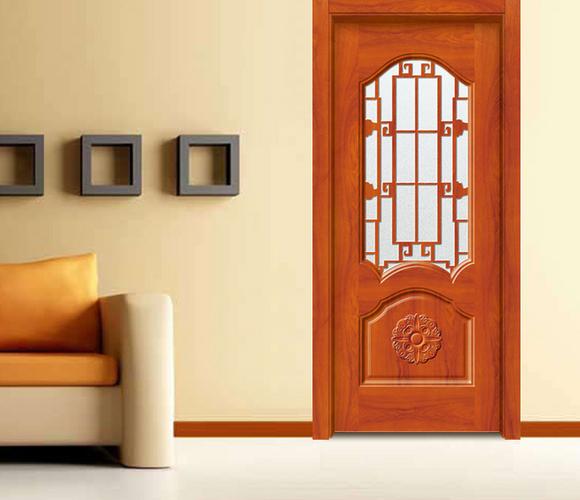 中式实木工艺玻璃门GBR-01
