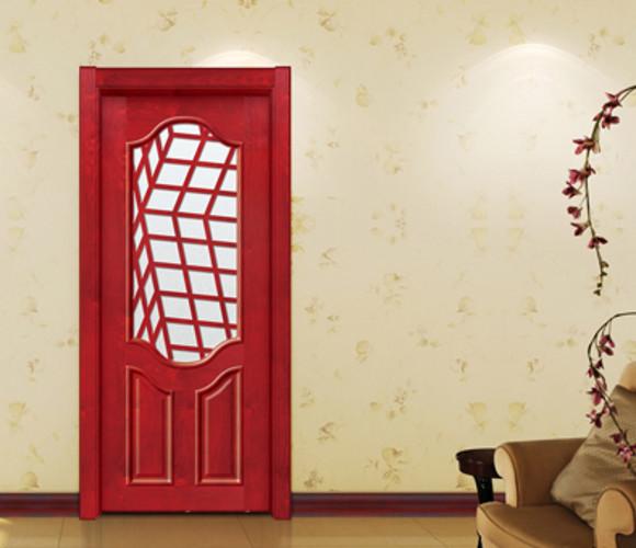 新中式实木工玻璃艺门GBR-07