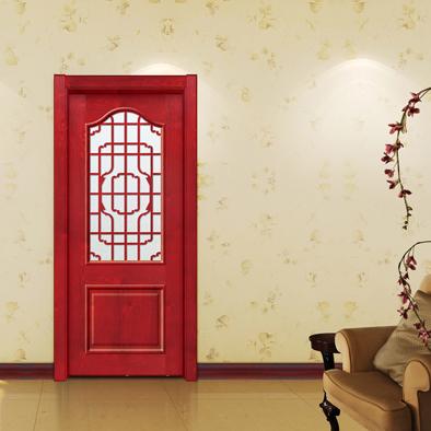 中式实木工艺玻璃门GBR-09