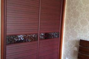 红胡桃+024腰线—衣柜移门