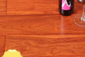 李洋地板 实木多层 亚花梨 红色