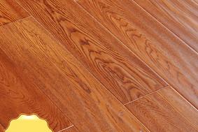 李洋地板 实木多层 栎木 金鞍色