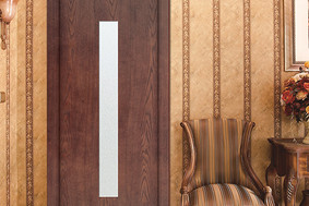 现代简约实木工艺玻璃门GBR-16