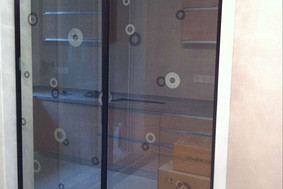 黑白纹理—厨房玻璃门
