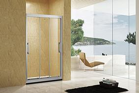 晶系列一字型三连动淋浴房