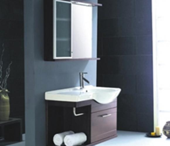 原木浴室柜
