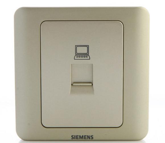远景系列—金棕色—一位8芯电脑插座
