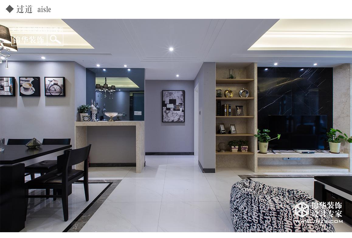 极简黑白灰装修-三室两厅-现代简约-镇江锦华装饰