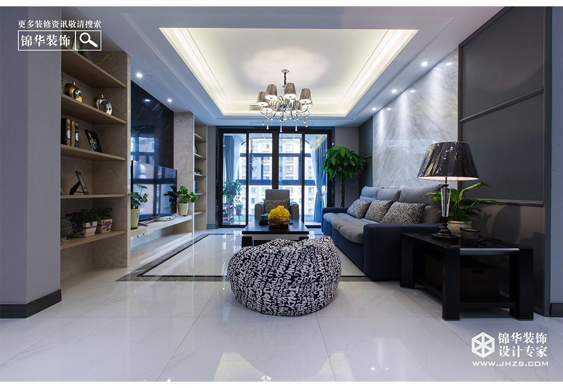 极简黑白灰装修-三室两厅-现代简约