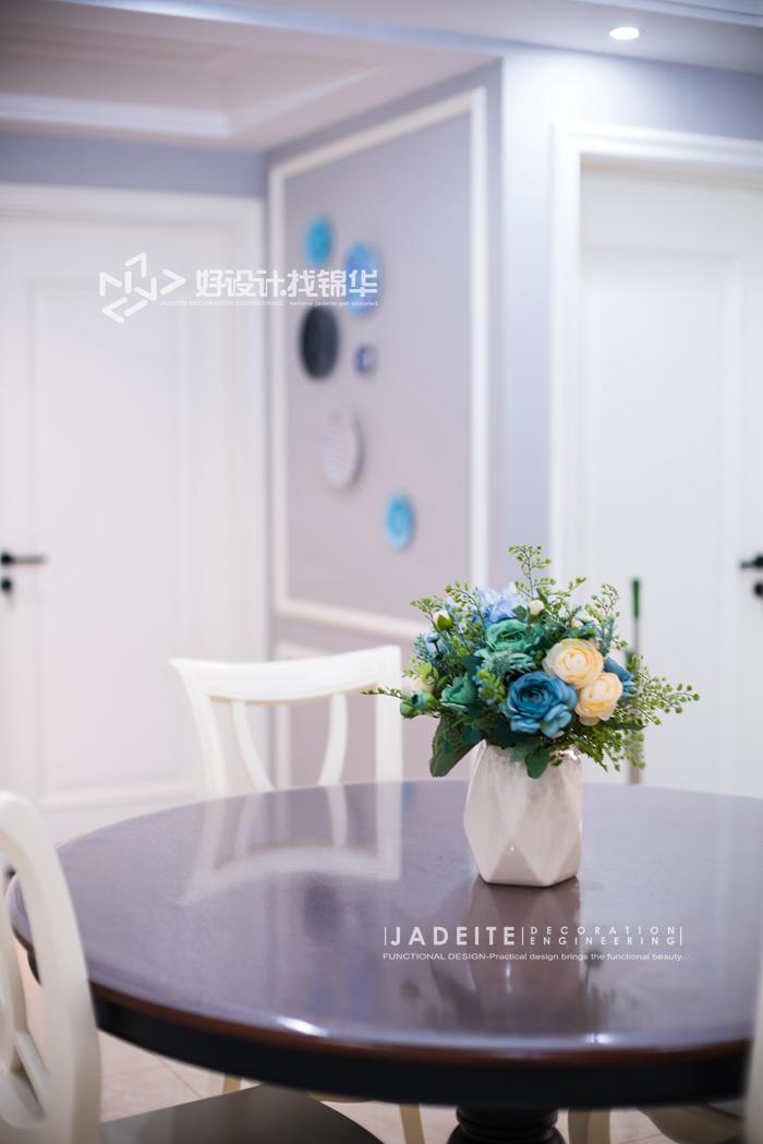 【中南御景城】120平 美式风格装修-三室两厅-简美