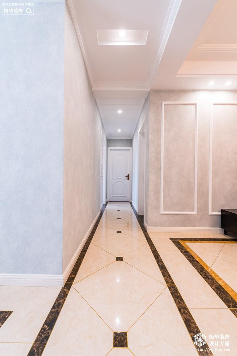 旭辉东壹区110平现代美式风格实景图装修-三室两厅-简美
