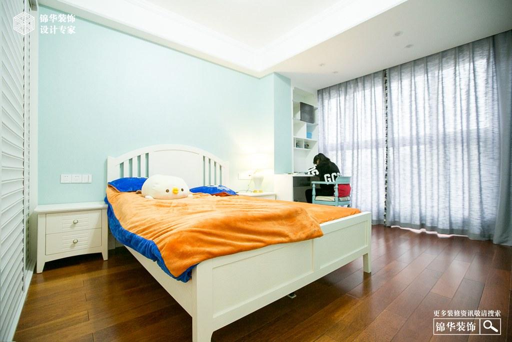 绿城127㎡美式风格<韵.绿>装修-三室两厅-简美