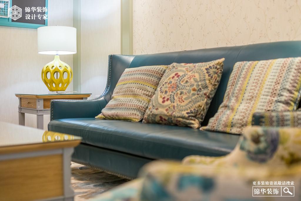 天鸿天际140㎡简美风格装修-三室两厅-简美