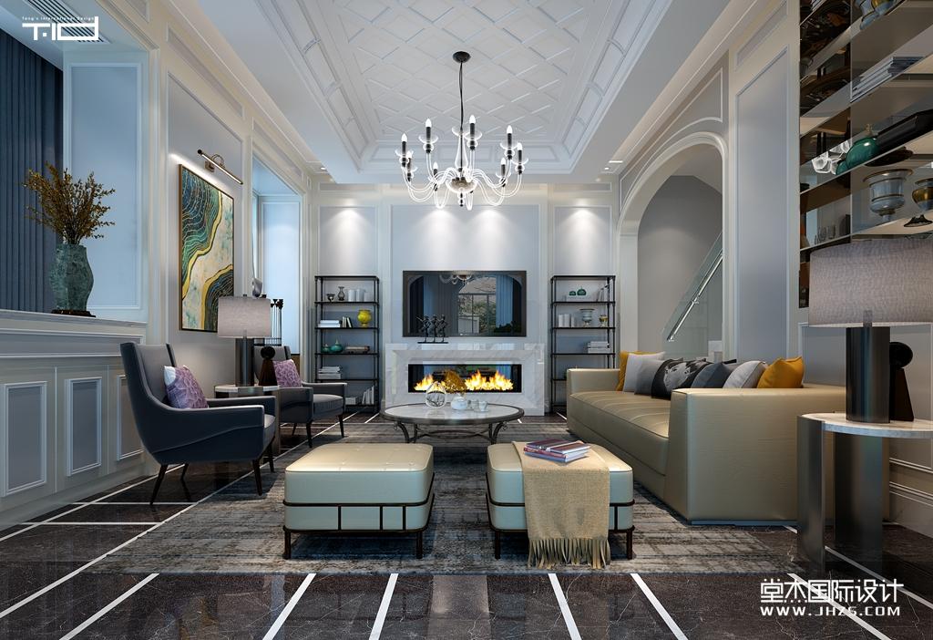 天玺花园别墅420平现代风格