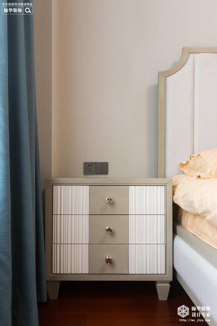 鸿泊湾130平现代美式风格实景图装修-三室两厅-简美