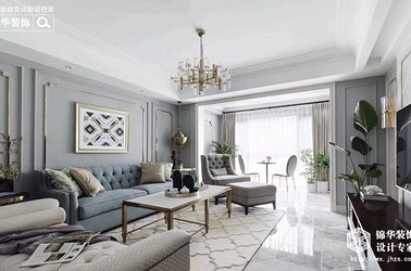 中央府邸137平美式輕奢風格實景圖