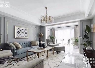 中央府邸137平美式轻奢风格实景图