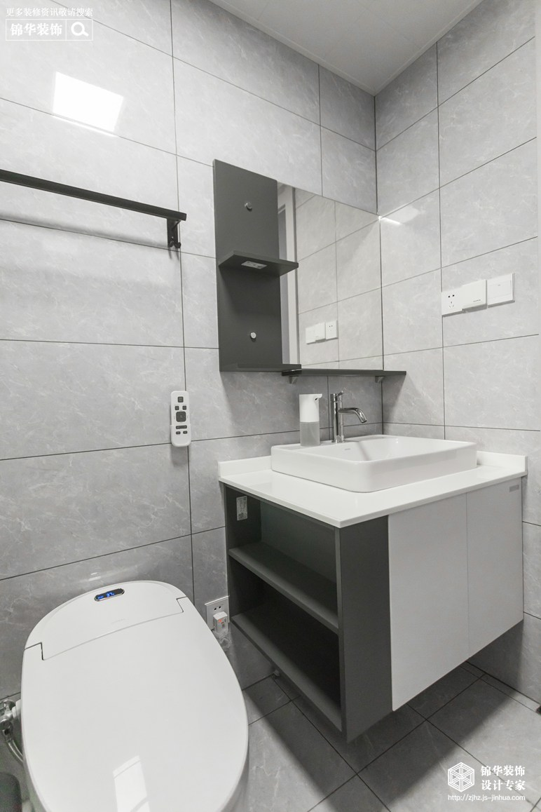 湖东府89平现代简约风格实景图装修-三室两厅-现代简约