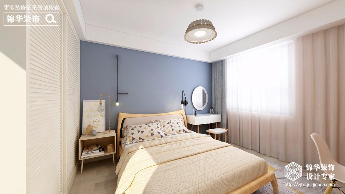 蜀山雅苑138平北歐風格效果圖裝修-三室兩廳-北歐