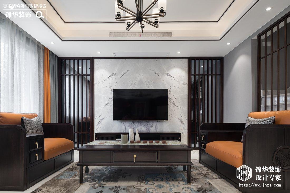阿卡迪亚顶复 五室两厅一厨三卫新中式风格实景图(素-净)300平
