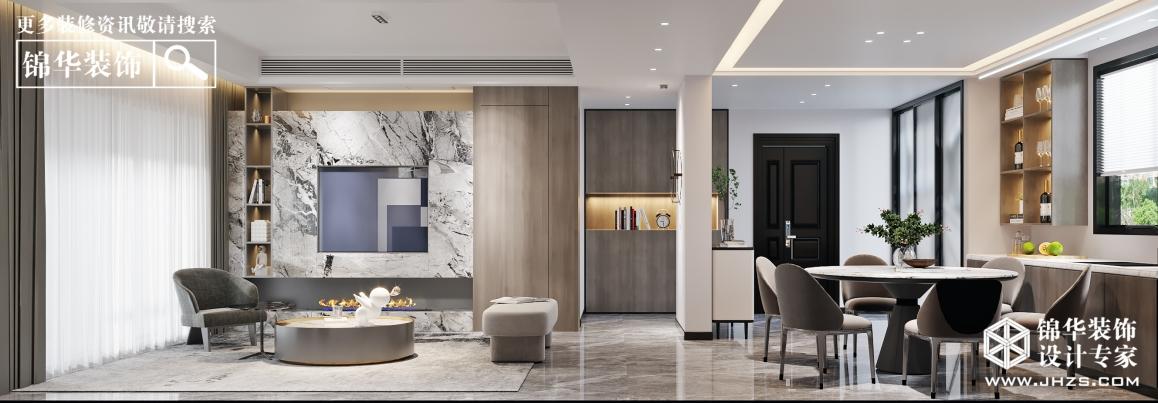 金茂悅142㎡ | 現代風格裝修-四室兩廳-現代簡約