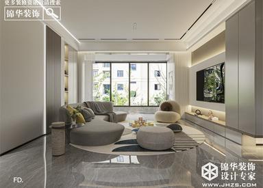 中央公园-现代简约-139㎡-三室两厅